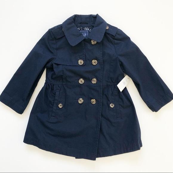 Brand New Baby Gap Navy Spring Trench Coat Size 2